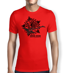 ron-bovey-red-mens t-shirt