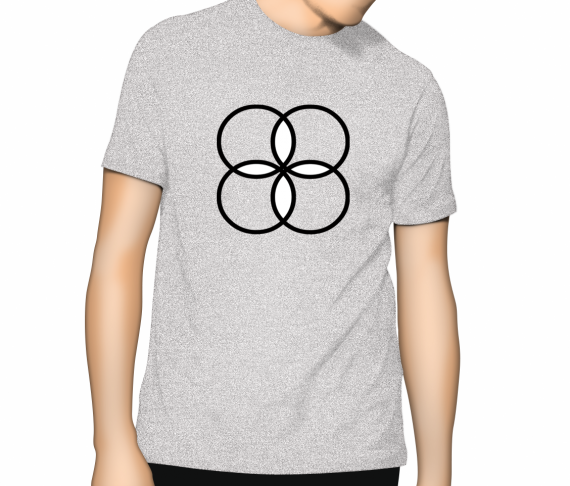 Cooloo Circles T Shirt - Ash Grey