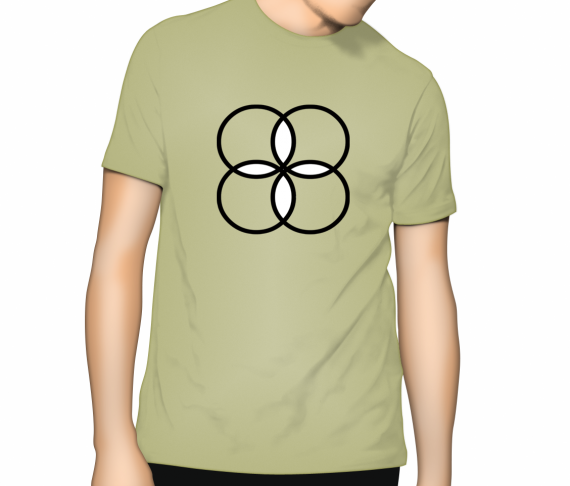 Cooloo Circles T Shirt - Zinc (light green)