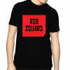 Red Square T Shirt - Black