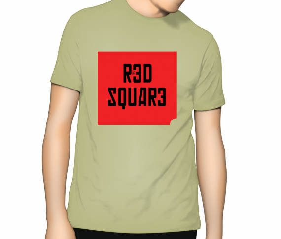 Red Square T Shirt - Zinc (light green)
