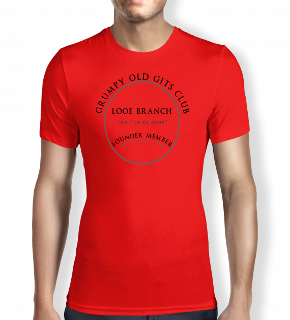 Grumpy of Looe - Red - T shirt