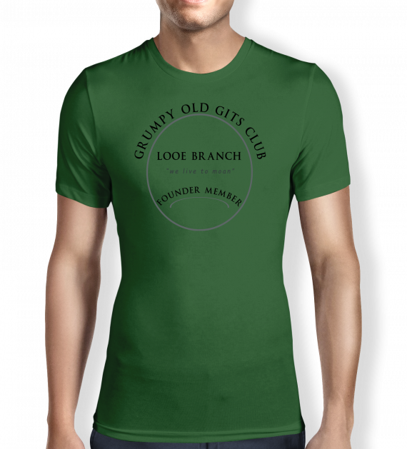 Grumpy of Looe - Green - T shirt