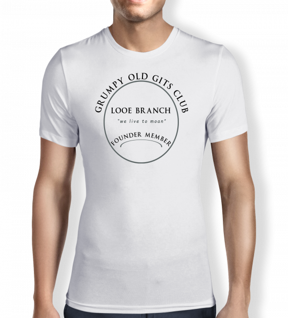Grumpy of Looe - White T shirt