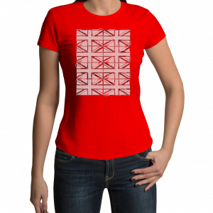 Union Jack- Ladies - Red - T shirt