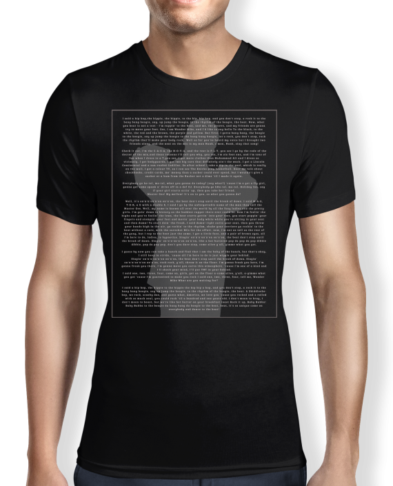 Rappers - Lyrics - black - T shirt