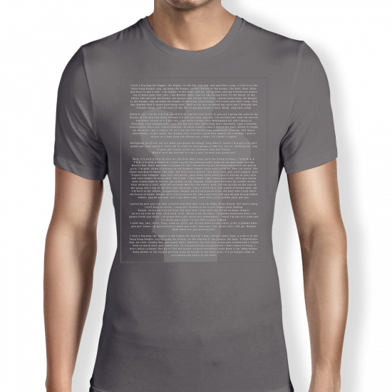 Rappers - Lyrics -grey - T shirt