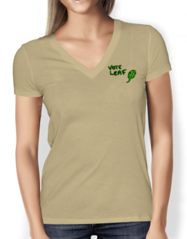 vote-leaf-sand-ladies-v-tight-t-shirt-front
